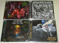 Bundle 4 CDs: KADAVERFICKER + PORNTHEGORE + CREATURES FROM THE TOMB + SMASHING DUMPLINGS