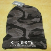 COCK AND BALL TORTURE - Original Cuffed Beanie - MIDNIGHT CAMO