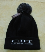 COCK AND BALL TORTURE - Snowstar® - BLACK Beanie