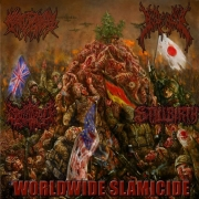 "CREPITATION / SPLATTERED / GOREVENT / STILLBIRTH - 4way split CD - ""WORLDWIDE SLAMICIDE"""