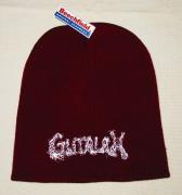 GUTALAX - Burgundy Beanie - white Logo