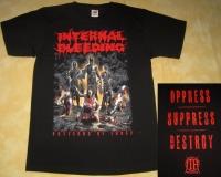 INTERNAL BLEEDING - Patterns Of Force - RED Logo - T-Shirt - size XL