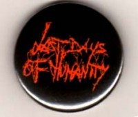 LAST DAYS OF HUMANITY - Red Logo - Button/Badge/Pin (63)