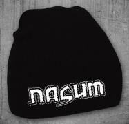 NASUM - white Logo - Beanie