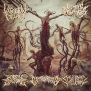V/A:  Rotten On Gore / Visceral Decay / Sanguinary Execution / Gastrorrexis / Genetic Aberration - split CD -