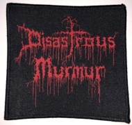 DISASTROUS MURMUR - red Logo - woven patch