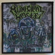 MUNICIPAL WASTE - Slime and Punishment - woven Patch