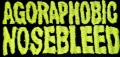 AGORAPHOBIC NOSEBLEED - embroidered Logo Patch
