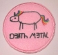 DEATH METAL UNICORN - embroidered Patch