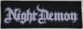 NIGHT DEMON - Logo - woven Patch