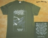NO ONE GETS OUT ALIVE - Backwoods Spirit - vintage army green T-Shirt