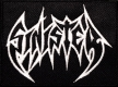 SINISTER - white Logo - embroidered patch