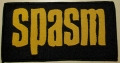 SPASM - yellow Logo - woven Patch