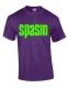 SPASM - green Logo - purple T-Shirt