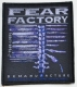 FEAR FACTORY - Demanufacture - woven Patch