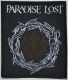 PARADISE LOST - Crown of Thrones - woven Patch